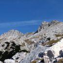 Levo Podrta gora, desno Vrh konte - mnogokrat spregledani dvatisočak.