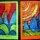 Abstraktne pokrajine (toplo hladni kontrast)