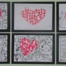 srčki - mozaik