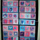 valentinovi srčki (voščenka - vodene barve)