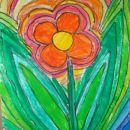 rožice (barvice + voščenke + flomastri + vodene barve)