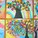 Drevesa (navdih: Kandinsky)
