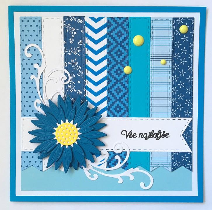 craft-alnica izziv #190: belo-modra + 1