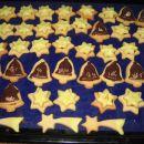 Preprosti piškoti - zvezdice in zvončki