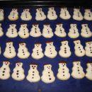 Preprosti piškoti - snežaki