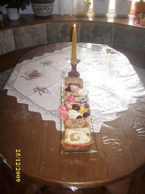 Medena svečka in božični krožnik