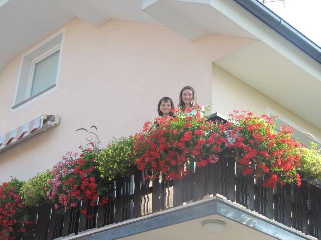 Balkon in cvetki