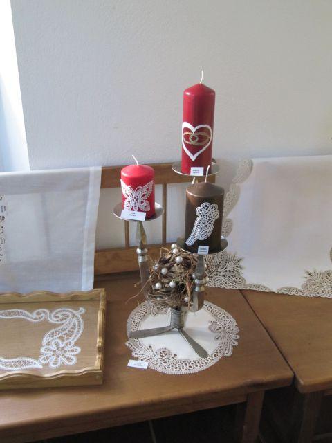 Svečke s čipko