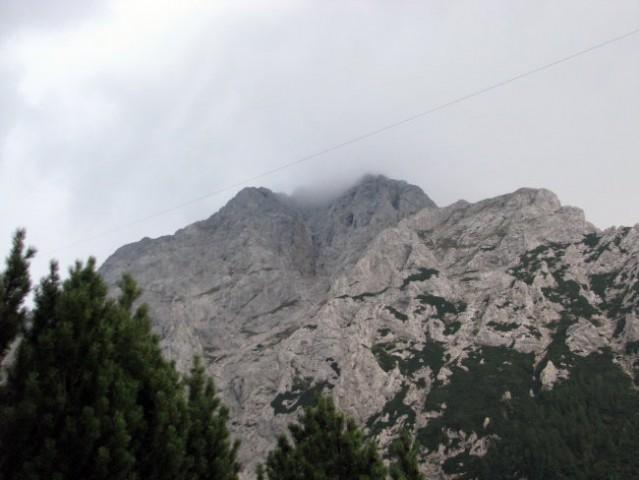 Vrh Planjave v megli