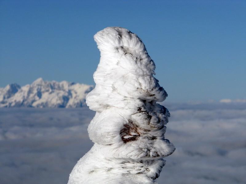 Snežna skulptura.