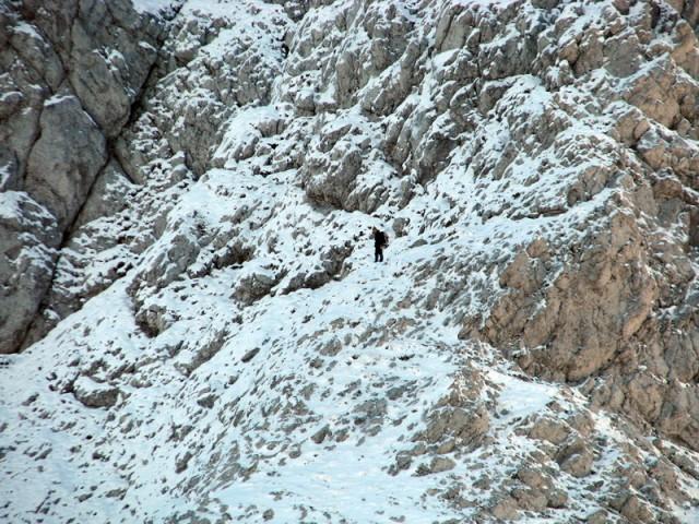 Edini obiskovalec gora, ki sem ga danes srečal. Je šel ravno v obratni smeri kot jaz.