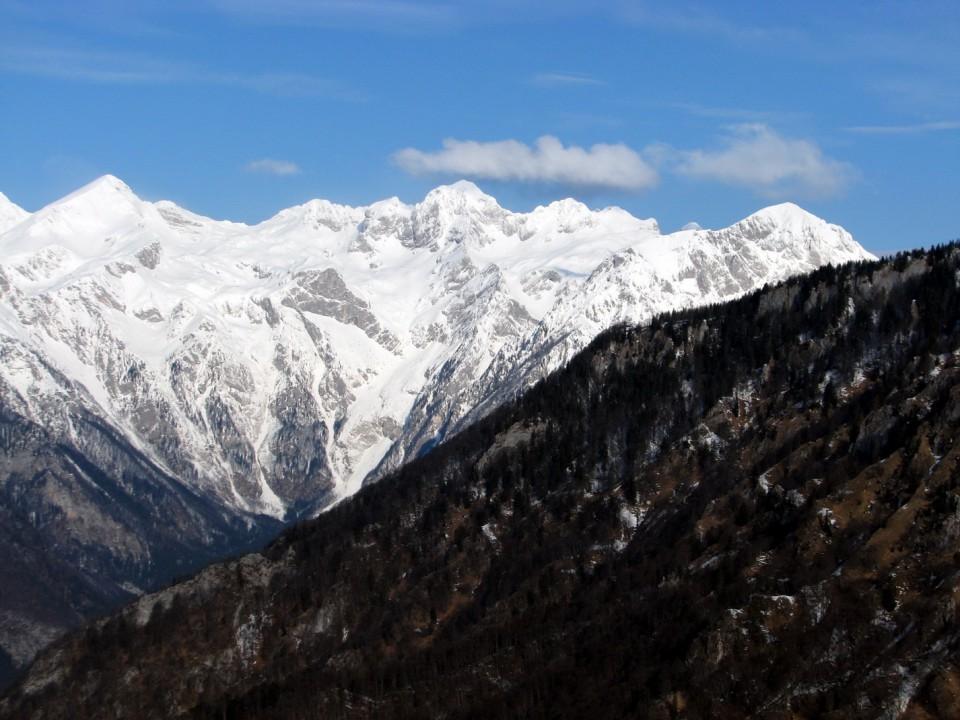 Grintovec, Dolgi hrbet, Štruca in Skuta, Rinke in Turska gora.