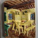 kmečka izba,ročno poslikano,19x26cm