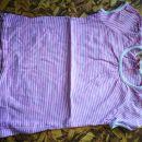 122 roza belocrtasta majica 1,5€