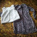 Hm 128 cudovita oblekca in brezrokavnik 10€