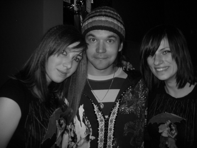 We just had to take another pic XD  he was nice^^  and you see, there's almost a smile!