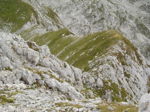 Zacetek grebena sedlo-vrh