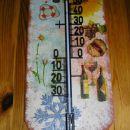 termometer letni časi na bobrovcu za stričev 50. RD