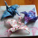 origami žerjavi iz fimo mase