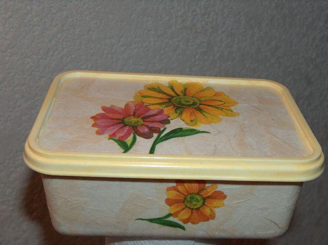 škatla od sladoleda, rižev papir, servetek