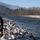 Ne, kljub temu da je bil mraz, Dita mora v vodo :)