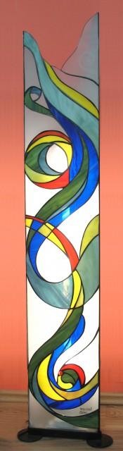 Stoječa svetilka, iz moranskih stekel, viš. 100 cm