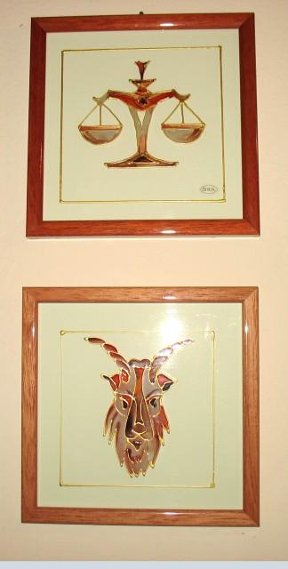 Slika, horoskop tehtnica, spodaj kozorog
