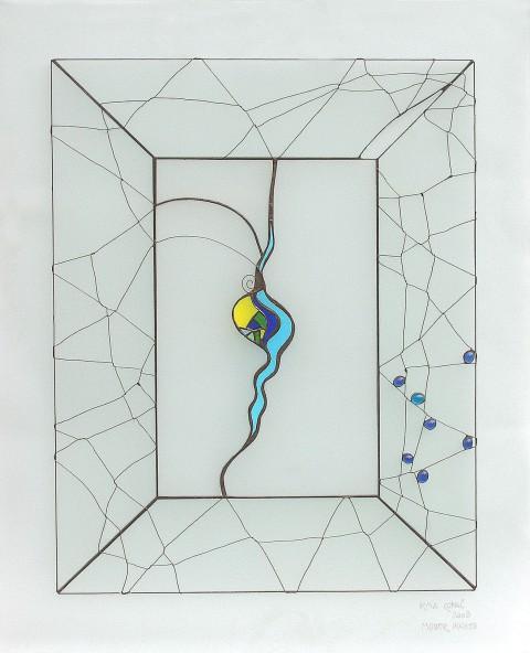 MODER POGLED, vitraž 80 x 60 cm