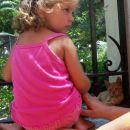 Deklica z mačko, Samos poletje 2005