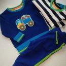 komplet pulover, hlače in majčka (pulover in majčka novi)  št 68 - 6e