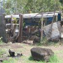 Beda otoka...na večih koncih ljudje preprosto živijo v 'hišah' iz raznih odpadnih material
