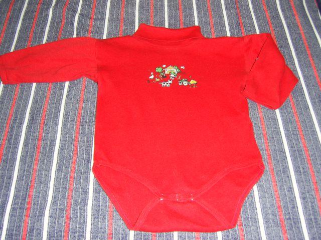 Bodi puli BABY WEAR v 98-104 cena 1,50 eur lepo rdeča basrva