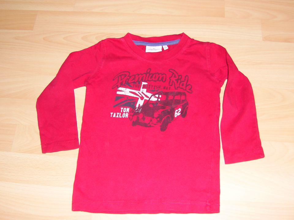 majčka tom tailer v 92 -98 cena 2 eur rdeča barva