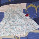 Oblekica in bel bodi kratek rokav, št. 68, komplet 5 €