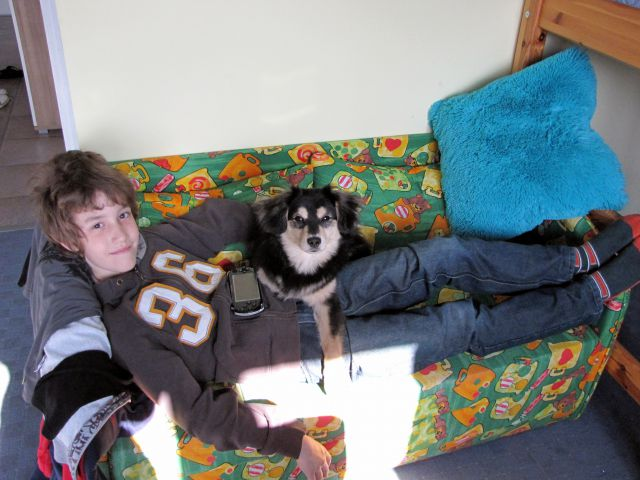Sebi in Bump na njunem skupnem rezidenčnem počivalniku :)))