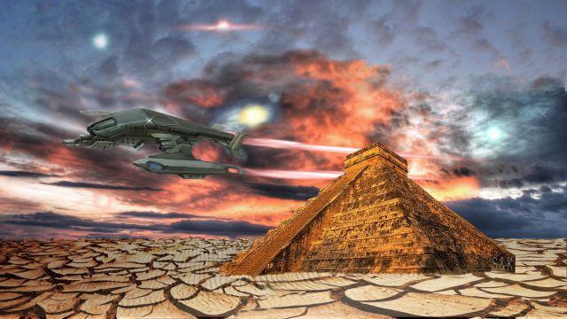 Piramida, Vesolje, Planet