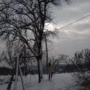 Sneg, led, zima v januarju,