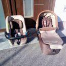 otroški voziček Jane Muum sedež (jajčka za v avto) in košara za dojenčka-ohranjeno