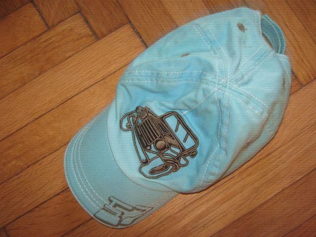 Turkizna kapa s šildom, za 5 - 7 let, vel.52/54, 2€