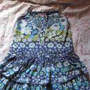 modra obleka na naramnice Marks&Spencer št.104/110, 3,5€