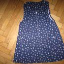 temno modra žametna obleka OshKosh, vel.104, 3€