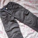 rjavo sive platnene hlače z regulacijo Bkids, št.104