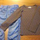 Hm komplet hlače+majica  110/116, 5€