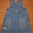 jeans obleka, vel. 98/104; 4€