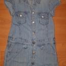 jeans obleka (H&M), vel. 104; 4€