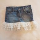 Jeans krilo s čipko Idexe št.116..cena 7 eur