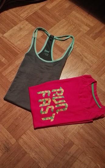 Športni-fitness majici. Za XS in S ter M.