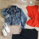 XS nova jeans jakna 10€, nove teniski 37 10€, srajca S 5€