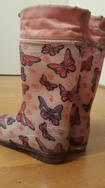 Dežni škornji za deklico 28/29 -5€ - foto
