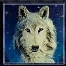 Še en volkc, kt da bi biu na nebu, maybe je duh ;)